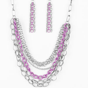 Color Bomb Paparazzi Necklace w/ Free Earrings